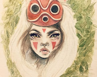 Wolf Princess - original painting
