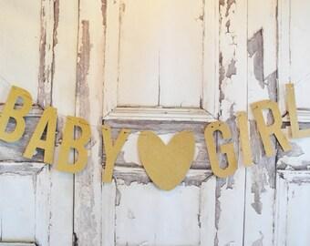 It's A Girl banner, Glitter Baby Girl banner, gender reveal sign, baby shower,Baby shower decorations, baby shower decor, baby shower banner