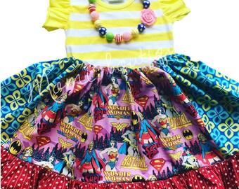 Wonder Woman batgirl boutique handmade clothing