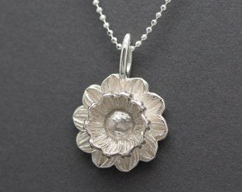 Lotus Pendant in Sterling Silver