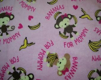 Ultra Cuddle Bananas 4 Mommy Blanket