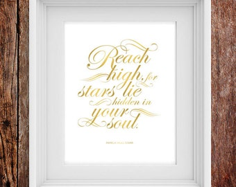 Reach High - Inspirational Typographic Print
