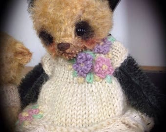 SOLD ....Pansy ..sweet little mohair bear