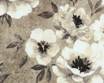 New- Shadow Chic -Chic Poppies -Oyster - Gray -Timeless Treasures -Quilt Fabric -By the yard- By the half yard -by Michele D'Amore.