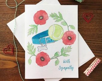 Dog Sympathy Card. Loss of Dog Card. Loss of Pet. Dog Sympathy Card. Grief Card. Pet Condolences Card. Rainbow Bridge Card. Pet Loss