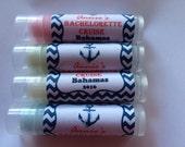 Bachelorette croisière lèvres baumes, Bachelorette week-end, Bachelorette baumes, partie de Bachelorette, personnalisé baumes pour les lèvres