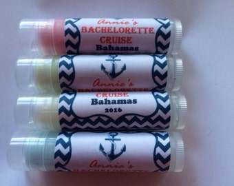 Bachelorette Cruise Lip Balms, Bachelorette Weekend, Bachelorette Lip Balms, Bachelorette Party,  Personalized Lip Balms