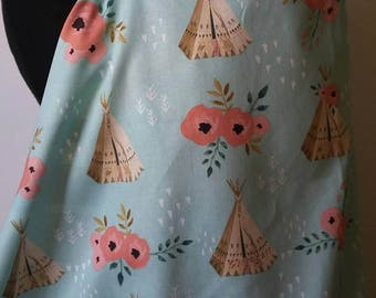 Nursing Cover, Breastfeeding Feeding Cover up, Nursing cover up, Tee Pee Roses