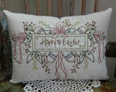 Decorative Spring Pillow, Happy Easter, Easter Eggs, Easter Bouquet