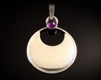 Amethyst Argent Moonlight Sterling Silver Pendant