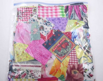 Huge Bag of Assorted Fabric Scraps Pieces or Material Lot C