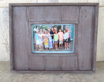 Rustic Redwood Farmhouse Picture Frame 5x7