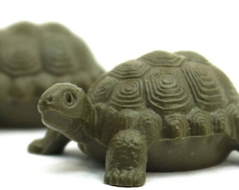 Turtles - Large - 6 pieces miniature turtles diorama project craft vintage turtles dollhouse gnome home fairy garden- 203-9-120
