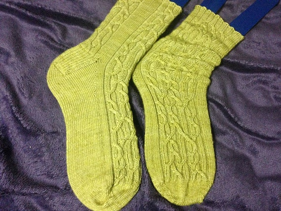 Entanglements - Cabled Sock Pattern - Personalizable  Pattern