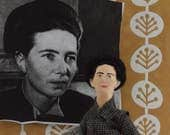 Feminist Writer Simone de Beauvoir Author Writer Political Activist Historical Doll