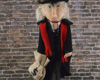 "Ebenezer Scrooge Nutcracker 8"" Size Limited Edition One of a Kind Charles Dickens Character"