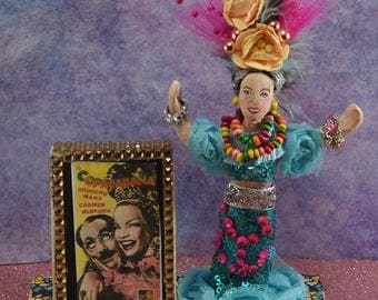 Carmen Miranda Doll Celebrity Doll Old Hollywood Movie Star Miniature Diorama