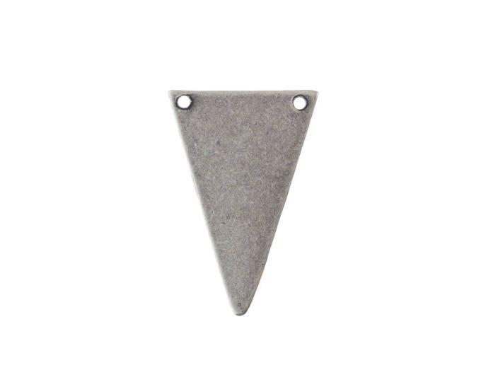 2 Hole Sterling Silver Ox Geometric Narrow Triangle Pendant Charm (6) mtl368N