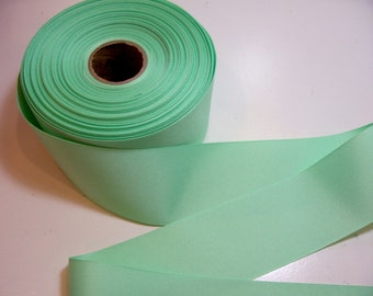 Wide Green Ribbon, Mint Green Grosgrain Ribbon 2 1/4 inches wide x 10 yards
