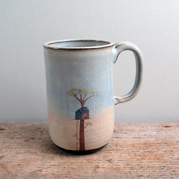 Tall Rustic Treehouse Mug