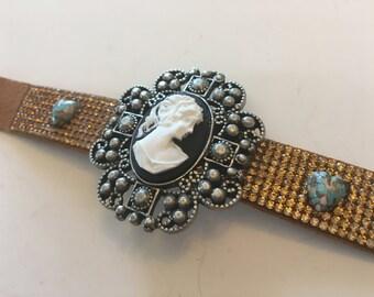 Assemblage Cameo Bling Bracelet