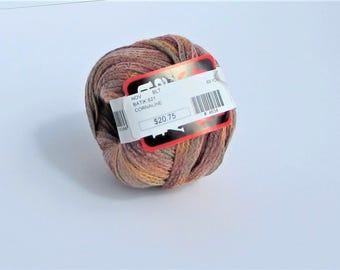 Anny Blatt, ribbon, yarn, Batik, 821, Cornaline, multicolored, C, destash new