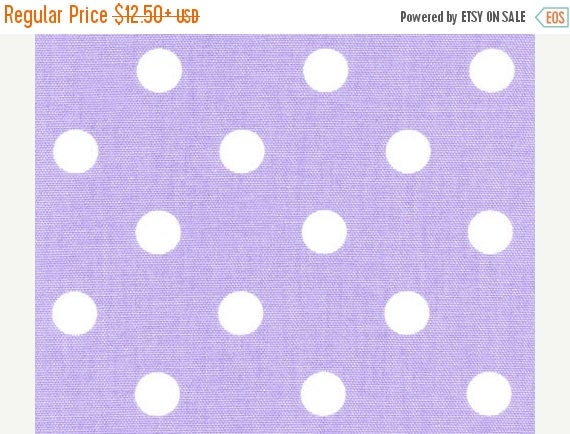 ON SALE NOW Lavender Dot Runner-  Table Runner, Polka Dot White on  Lt Purple or Lilac, Lavender Wedding Bridal Home Decor Chic  Other color