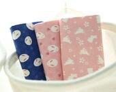 4372 - Rabbit & Cherry Blossom Cotton Fabric - 62 Inch (Width) x 1/2 Yard (Length)