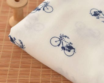 4662 - Bicycle Rayon Fabric - 55 Inch (Width) x 1 Yard (Length)