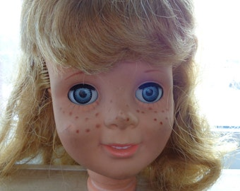 1960s Tandy Talks Eegee Doll 21 inch PlayPal Doll SEE DESCRIPTION