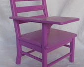 """Lavender Handcrafted Wooden School Desk fits 18"""" American Girl Doll"""