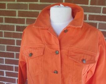 1980s Orange Denum Pants and Jacket Set