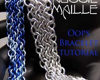 Chainmaille Tutorial - Oops (Unbalanced Euorpean 4in1) Bracelet
