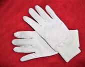 Vintage 80s Silver Metallic Knit Gloves Mens Small Michael Jackson Costume