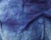 """Hand Dyed LAPIS BLUE Raw Silk Noil Poplin Gauze Fabric - 18""""x22"""""""