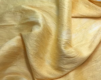 Hand Dyed GOLDENROD Silk DUPIONI Fabric - 1 Yard