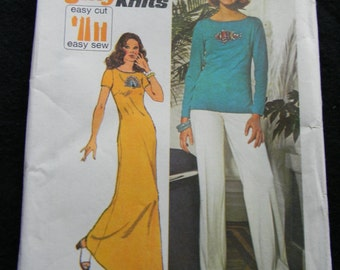 Vintage Simplicity Pullover Dress, Top and Pants Pattern # 6287 Uncut Size 16