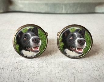 Personalized Cufflinks, Custom Pet Cufflinks, Dog Cuff links, Custom Cufflinks, Photo Cufflinks, Memory Keepsake, Gift For Him