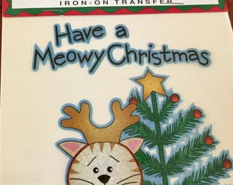 Iron-On Transfer, Have a Meowy Christmas