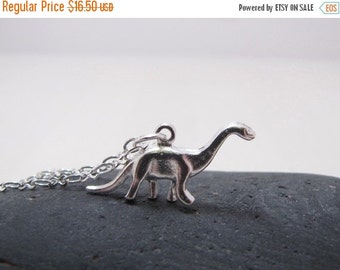 SALE Dinosaur Necklace Brontosaurus Jewelry RAWR