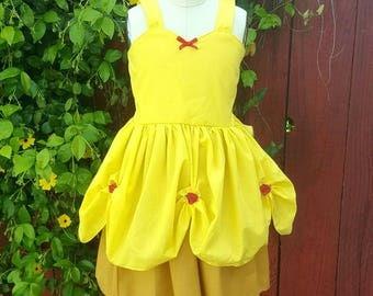 BELLE dress, summer princess dress, Belle costume, Princess dress, comfortable princess dress, vacation princess dress