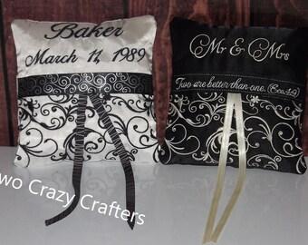 Personalized Ring Bearer Pillow, Wedding, Ceremony, Satin Wedding Pillow, Ring Boy PIllow