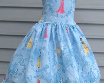 Ready to Ship Custom Boutique Aurora  Disney Princess Blue Dress Will Fit Size 5 or 6