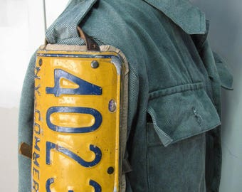 Fallout style license plate shoulder armor