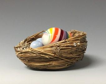 Rainbow Egg Nest Ornament