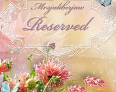 Reserved Listing for Winifred Only thank you