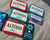 Lot of 7 empty Altoids, Mentos tins Clearance item