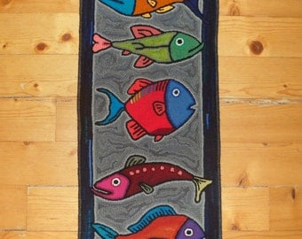 Small Fish Runner (or Wall Hanging); Ready To Ship