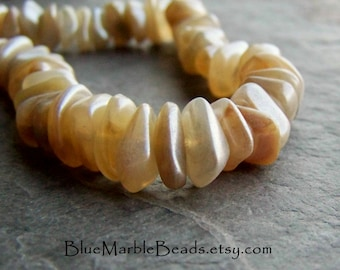 Nugget Beads, Vintage Beads, Lucite Beads, Chip Beads, Faux Horn, Faux Stone, Beach Beads, Boho Beads, Tribal Beads, Rustic Beads, 50 Beads