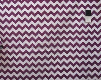 "SALE Riley Blake Medium Chevron Purple 60"" Cotton Quilting Fabric By Yard"